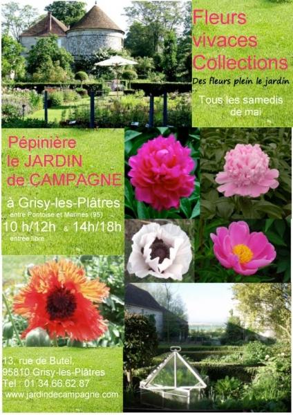 Jardin jardin de campagne grisy les pl tres for Jardin fleurs vivaces