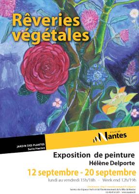 Rêveries végétales exposition de peinture d hélène delporte